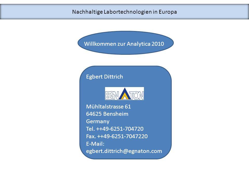 Nachhaltige Labortechnologien in Europa Laborlüftung (Leitung: Dr.