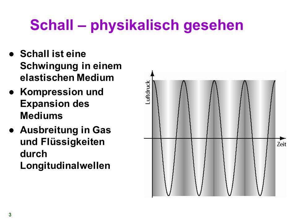 2 Überblick Schall - Grundlagen Das Ohr im Überblick Das innere Ohr Organ von Corti Auditorischer Pfad Auditorischer Cortex Fazit