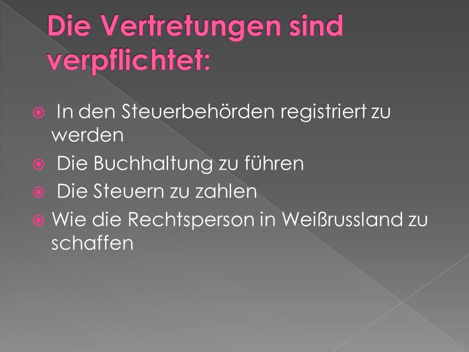 Die staatliche Registrierung (einschl.