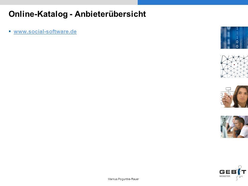 Online-Katalog - Anbieterübersicht www.social-software.de Markus Poguntke-Rauer