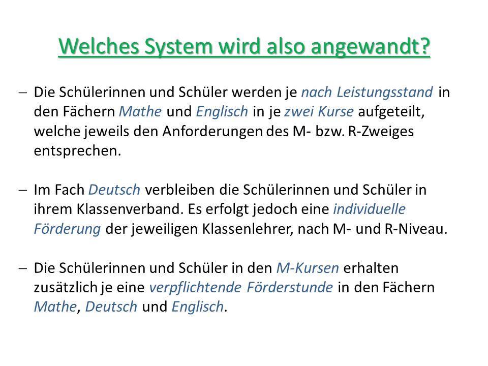 Welches System wird also angewandt.