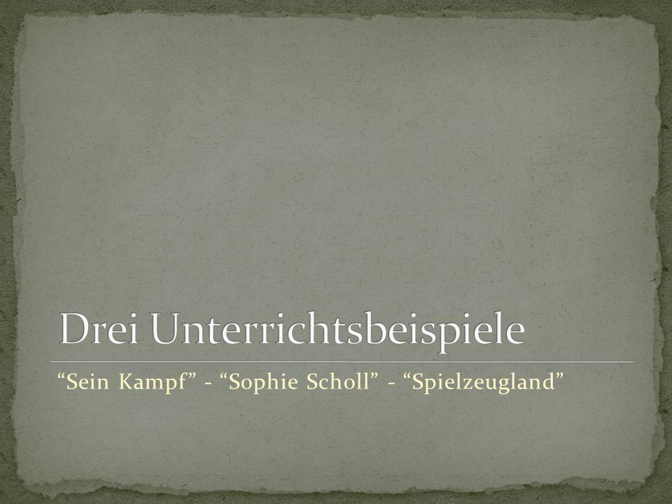 Sein Kampf - Sophie Scholl - Spielzeugland