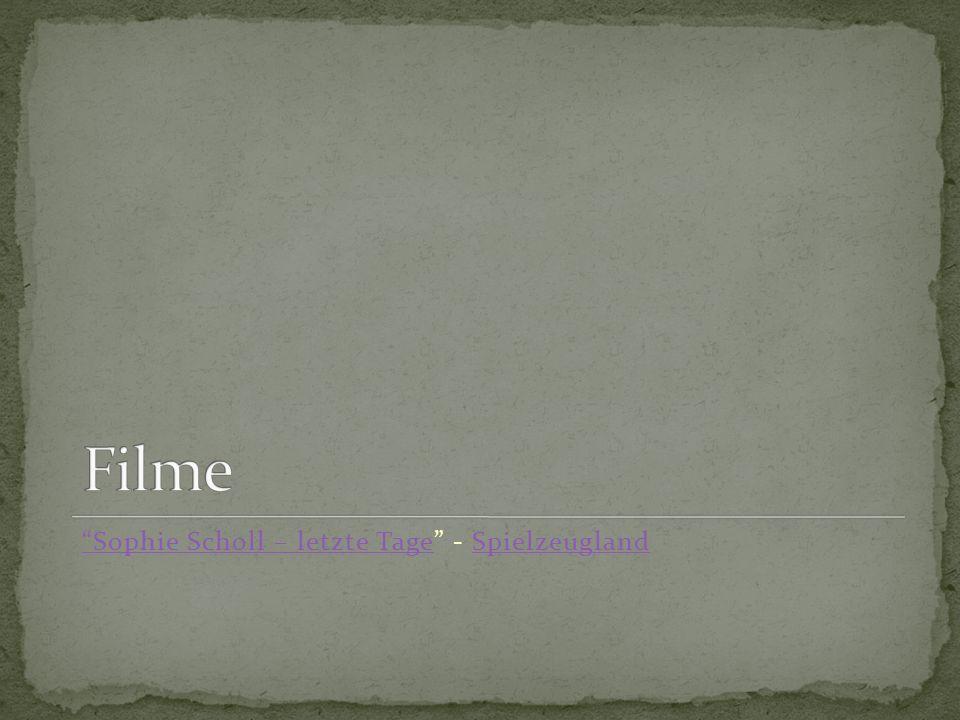 Sophie Scholl – letzte TageSophie Scholl – letzte Tage - SpielzeuglandSpielzeugland