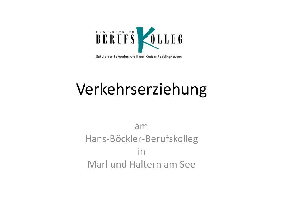 Verkehrserziehung am Hans-Böckler-Berufskolleg in Marl und Haltern am See