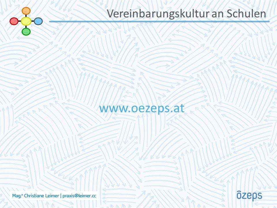 Vereinbarungskultur an Schulen www.oezeps.at