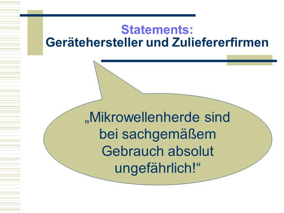 Statements: Fritz-Albert Popp Auf keinen Fall mit der Mikrowelle auftauen, weil dabei die Zellen zerstört werden.