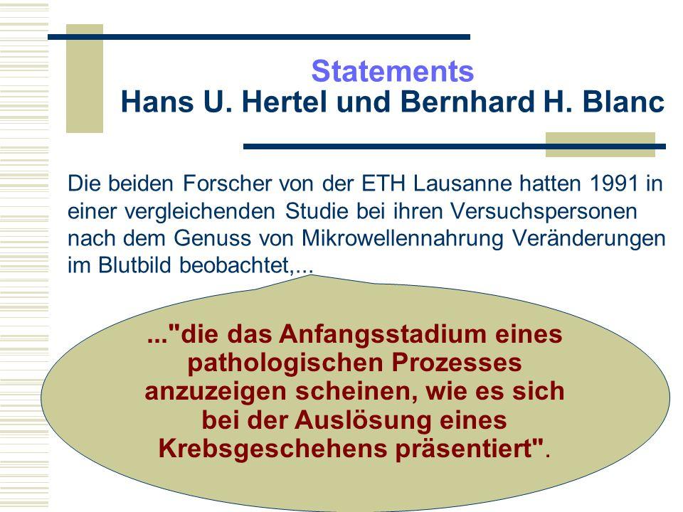 Meinungsfreiheit Während Blanc sich später (aus Angst um seine Familie) von seiner Aussage distanzierte, wurde der unnachgiebige Hertel vom Fachverband Elektroapparate für Haushalt und Gewerbe Schweiz (FEA) verklagt wegen Verstoß gegen das Gesetz gegen unlauteren Wettbewerb.