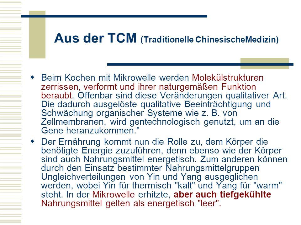 Quellen und Links http://www.salzburg.com/sn/01/01/16/seite3-31446.html http://www.umweltministerium.bayern.de/service/umwberat/ubbmik.htm http://www.sfdrs.ch/sendungen/puls/infoservice/001221_4b.html http://www.desy.de/expo2000/deutsch/allebrowser/webthemen/12_em_s pektrum/spektrum.htm#mikro http://www.desy.de/expo2000/deutsch/allebrowser/webthemen/12_em_s pektrum/spektrum.htm#mikro http://www.e-smog.ch/beitraegedritter/jan2001/gladiss2.htm http://www.naturkost.de/basics/schnelle-kueche/mikrowelle.htm http://www.oneworld.at/suedwind.magazin/magazin/inhalt.asp?ID=1133 http://www.ccinfo.de/technik/strahlen/strahlung.htm http://www.naturkost.de/99sk/sk9910o1.htm http://members.surfeu.at/oerad/no63/auer.html http://www.wffns.org/journal/artikel/mikro_de.html http://www.e-smog.ch/beitraegedritter/jan2001/zesar3.htm