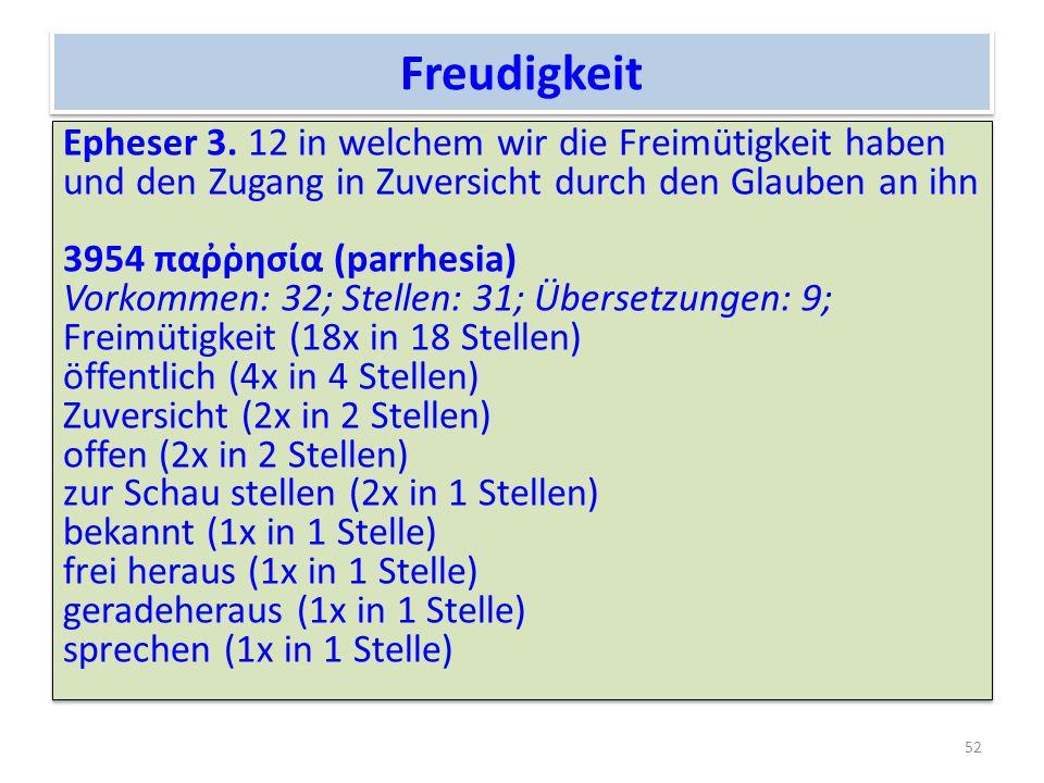 Freudigkeit Epheser 3.
