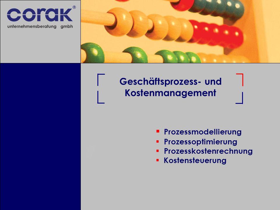 Geschäftsprozess- und Kostenmanagement Prozessmodellierung Prozessoptimierung Prozesskostenrechnung Kostensteuerung