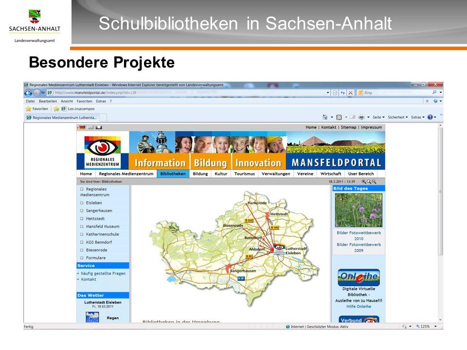 Überschrift Unterüberschrift Schulbibliotheken in Sachsen-Anhalt Besondere Projekte