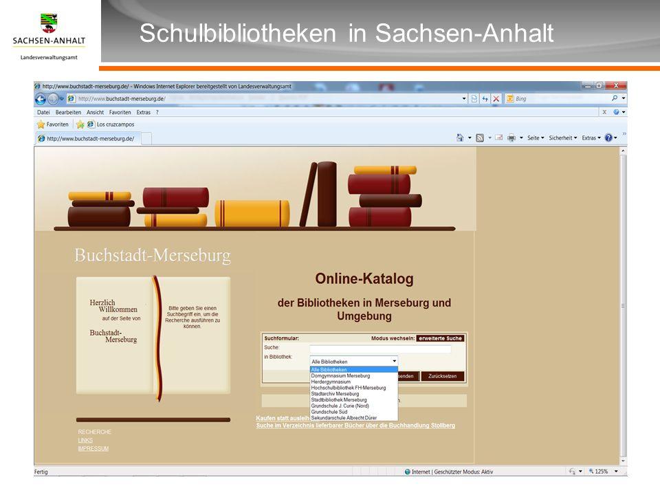Überschrift Unterüberschrift Schulbibliotheken in Sachsen-Anhalt