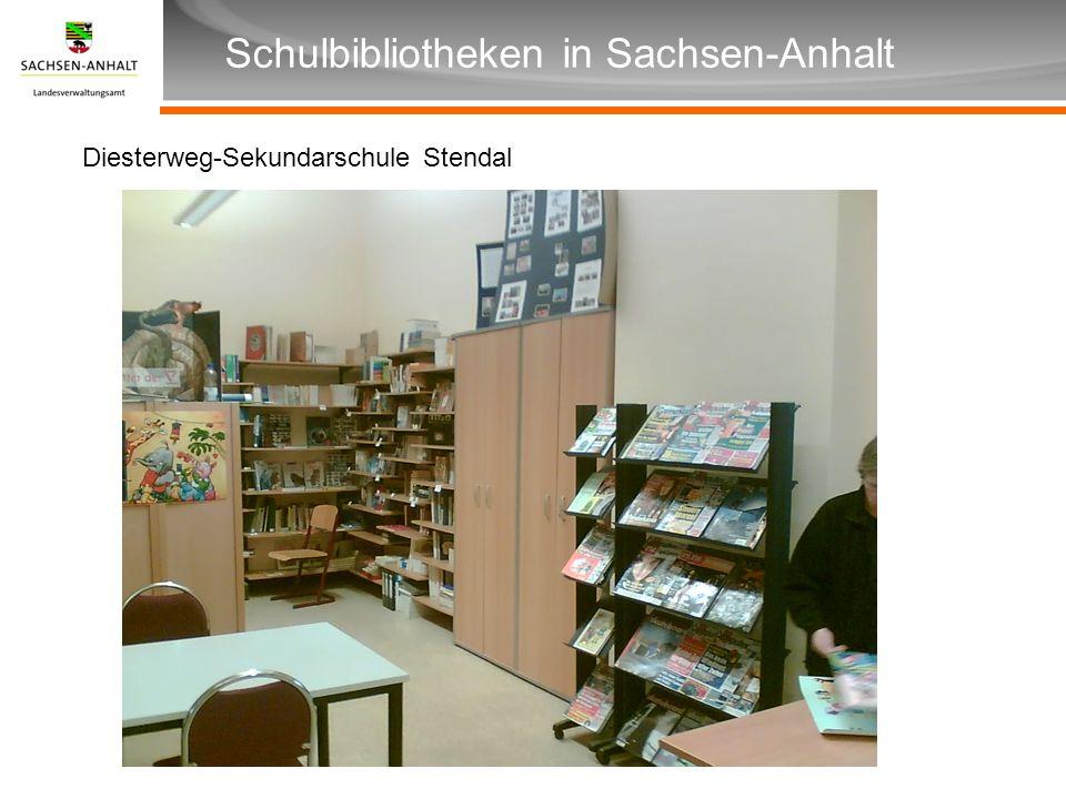Überschrift Unterüberschrift Schulbibliotheken in Sachsen-Anhalt Diesterweg-Sekundarschule Stendal