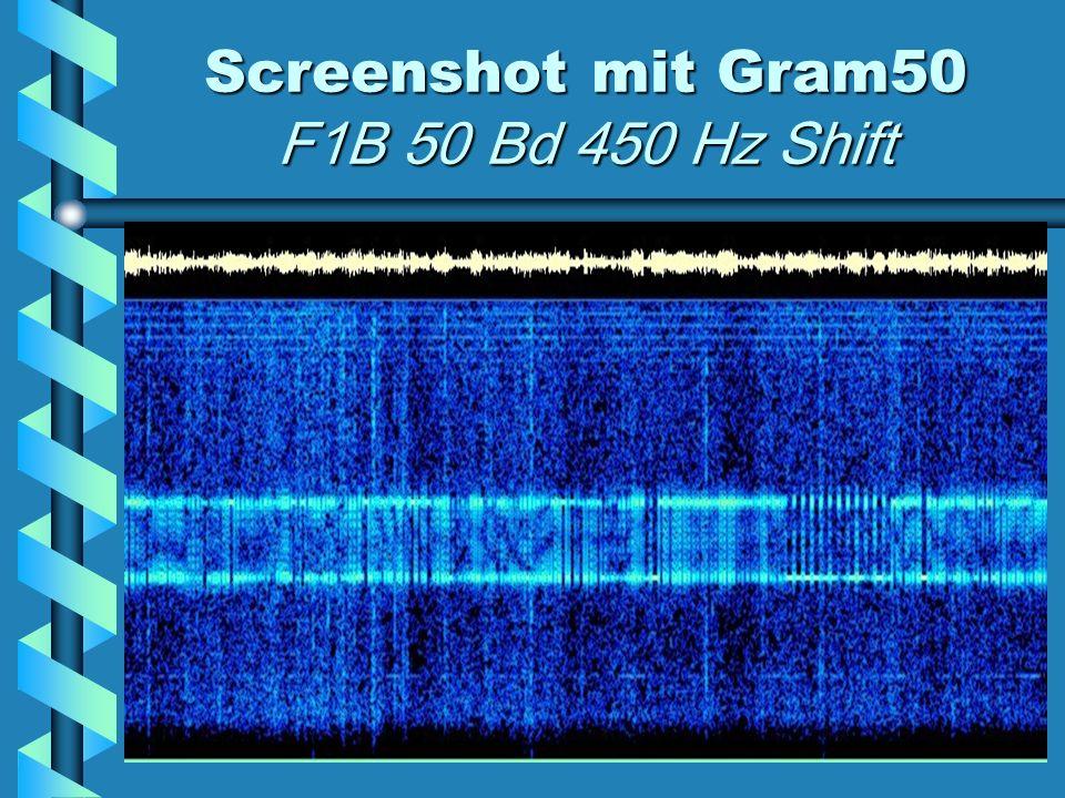 Screenshot mit Gram50 F1B 50 Bd 450 Hz Shift