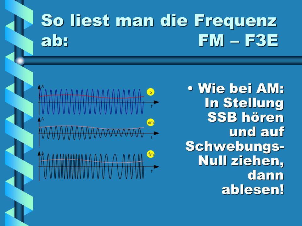 Verdacht auf Sender- Harmonische Auf der vermuteten Grundfrequenz nach dem selben Signal suchen.