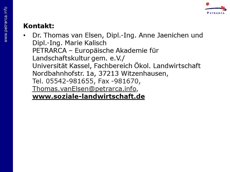 www.petrarca.info Kontakt: Dr.Thomas van Elsen, Dipl.-Ing.