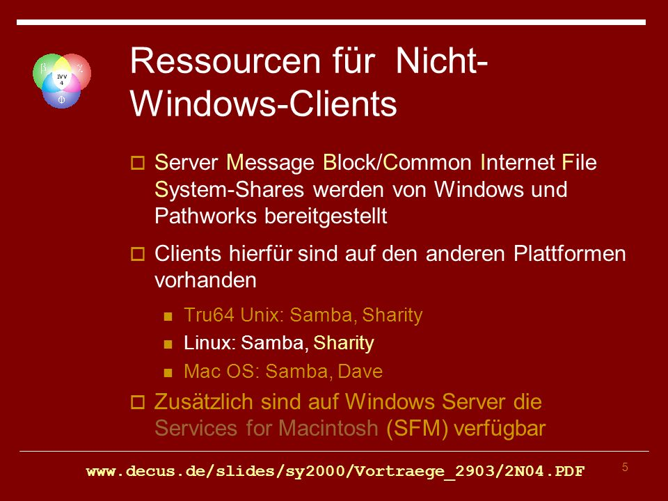 26 SMB Client-Konfiguration In /etc/samba/smb.conf wird SaMBa konfiguriert NWZnet spezifische Setzungen [global] workgroup = NWZNET os level = 0 time server = No unix extensions = Yes encrypt passwords = yes map to guest = Bad User […] wins support = No […] security = DOMAIN Vorlage unter \NWZnet\Linux\configfiles\smb.conf