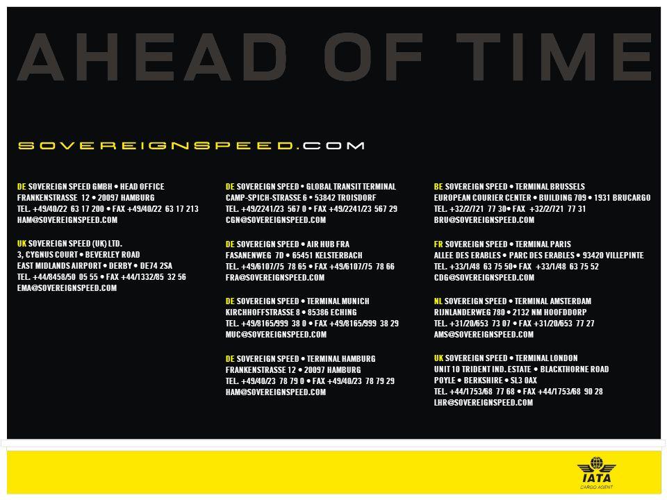 DE SOVEREIGN SPEED GMBH HEAD OFFICE FRANKENSTRASSE 12 20097 HAMBURG TEL.