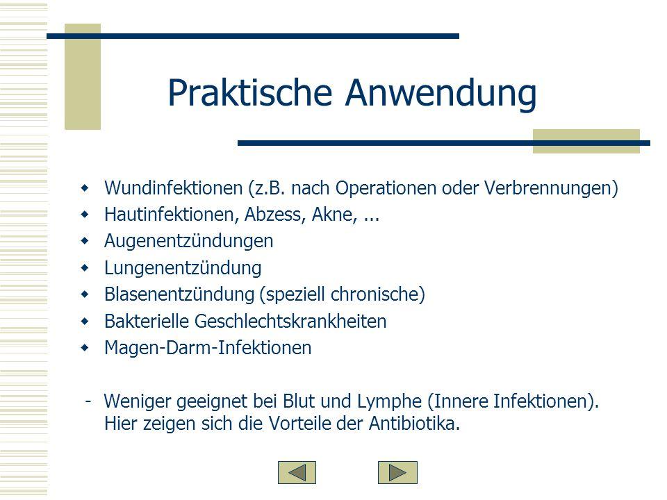 Praktische Anwendung Wundinfektionen (z.B.