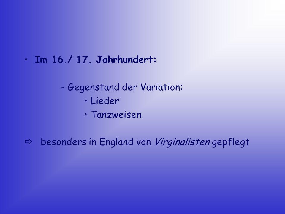 Renaissance/ Frühbarock : - als schriftlich fixiertes Notenbild liegen nur Skizzen (Stenogramme) vor - Spieler/ Sänger führt es frei improvisierend aus - damalige Stilmittel: - Verzierungen - Verschleifungen - ornamentale Figuren - bedeutender Gegenstand: - Choral