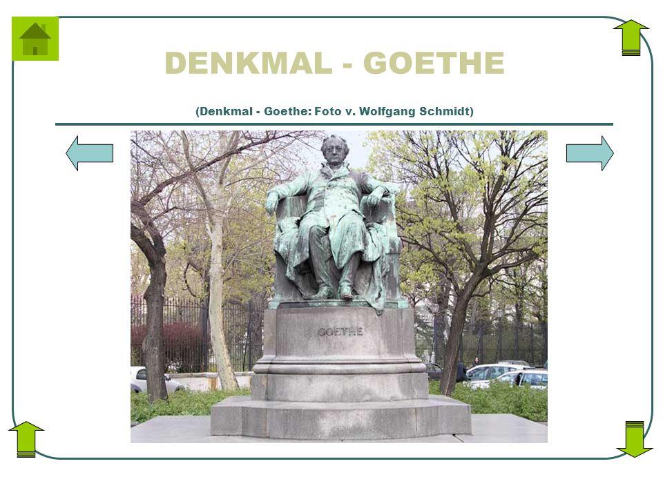 DENKMAL - GOETHE (Denkmal - Goethe: Foto v. Wolfgang Schmidt)
