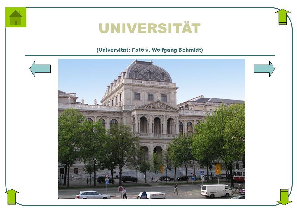 UNIVERSITÄT (Universität: Foto v. Wolfgang Schmidt)