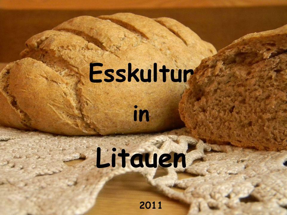 Litauen hat eine alte Esskultur.Schon im 14.