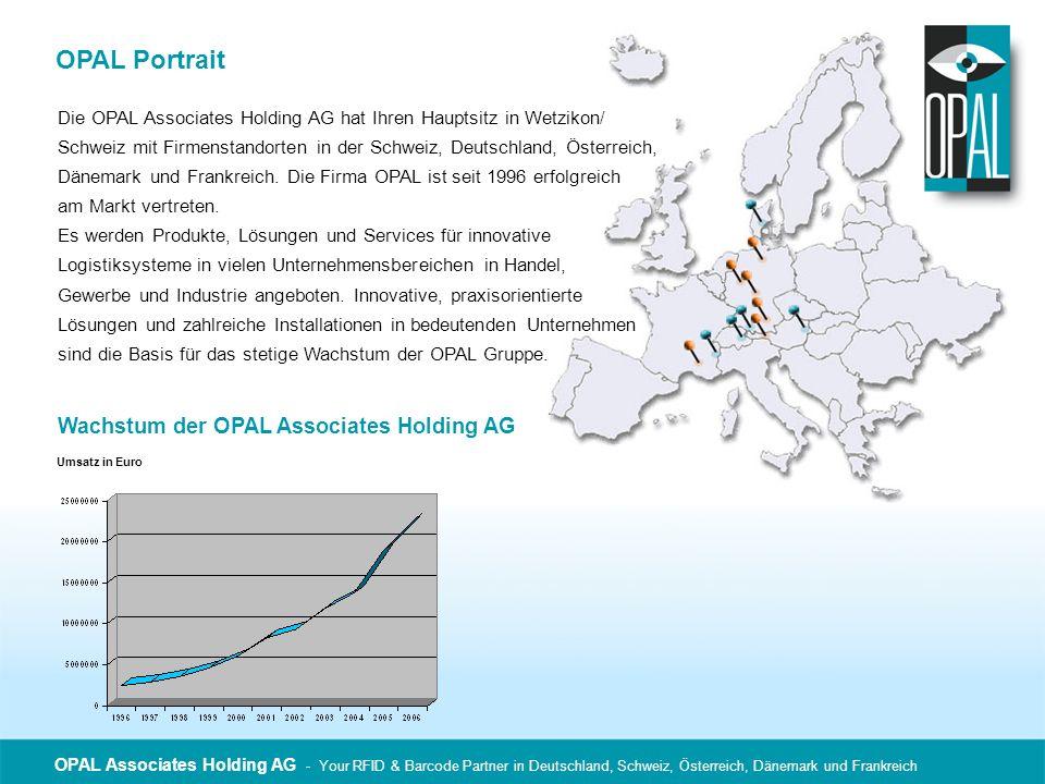 OPAL Portrait Die OPAL Associates Holding AG hat Ihren Hauptsitz in Wetzikon/ Schweiz mit Firmenstandorten in der Schweiz, Deutschland, Österreich, Dä