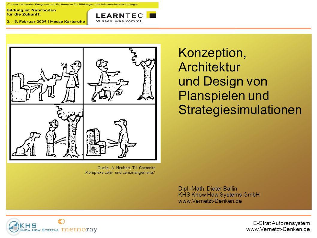 E-Strat Autorensystem www.Vernetzt-Denken.de Quelle: A. Neubert, TU Chemnitz Komplexe Lehr- und Lernarrangements Konzeption, Architektur und Design vo
