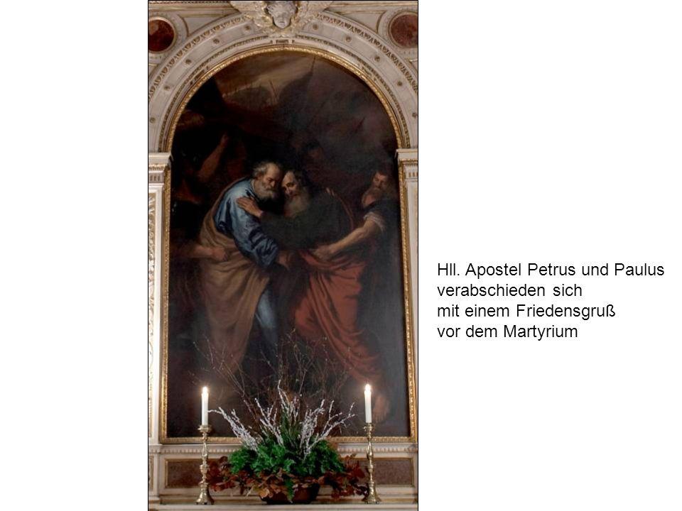 Hll. Apostel Petrus und Paulus verabschieden sich mit einem Friedensgruß vor dem Martyrium