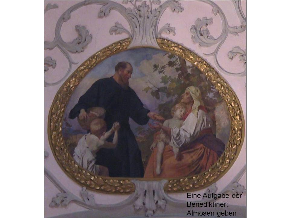 Eine Aufgabe der Benediktiner: Almosen geben