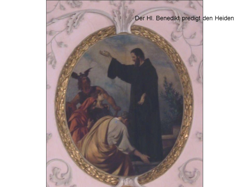 Der Hl. Benedikt predigt den Heiden