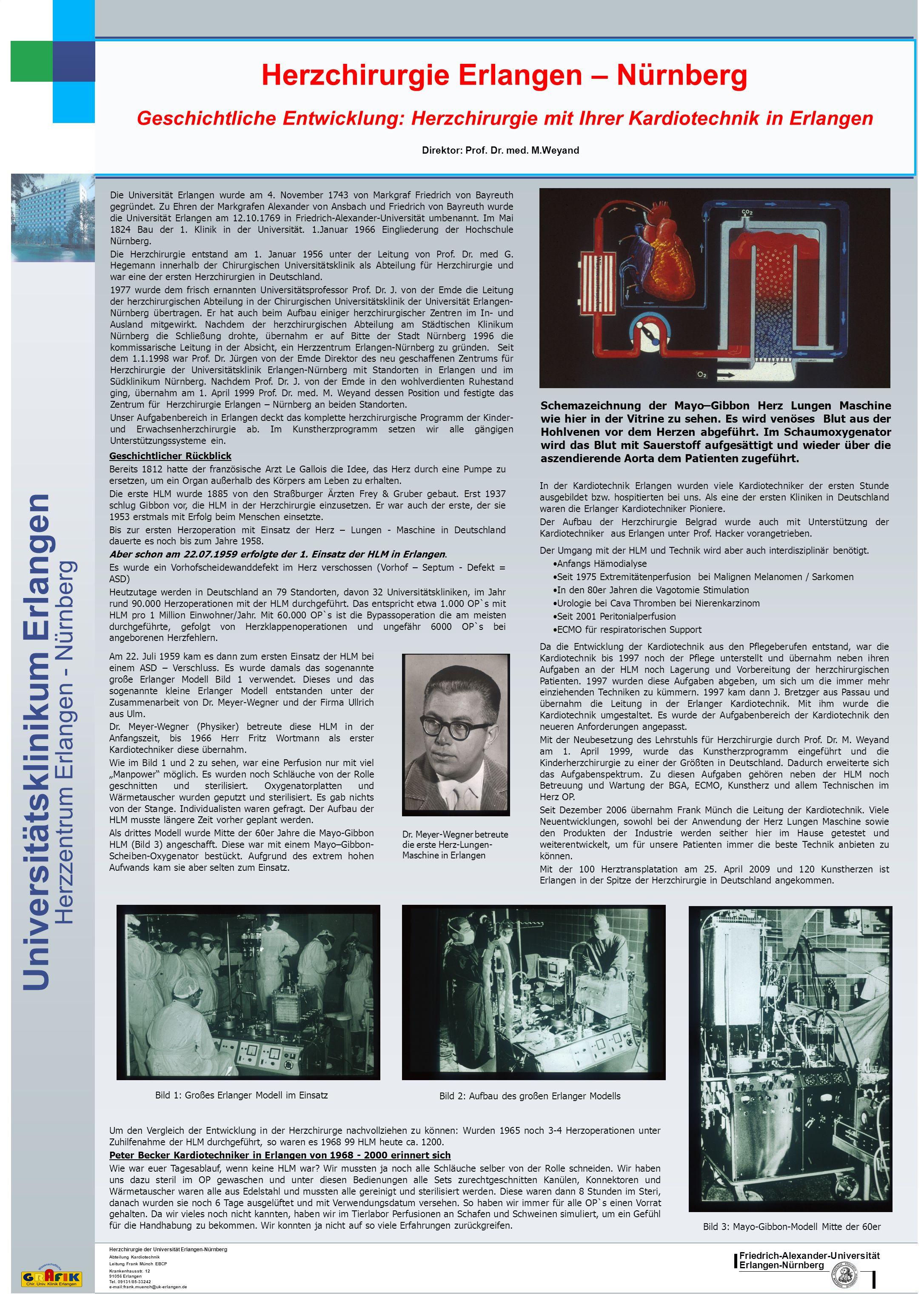 Friedrich-Alexander-Universität Erlangen-Nürnberg Universitätsklinikum Erlangen Herzzentrum Erlangen - Nürnberg Herzchirurgie Erlangen – Nürnberg Gesc