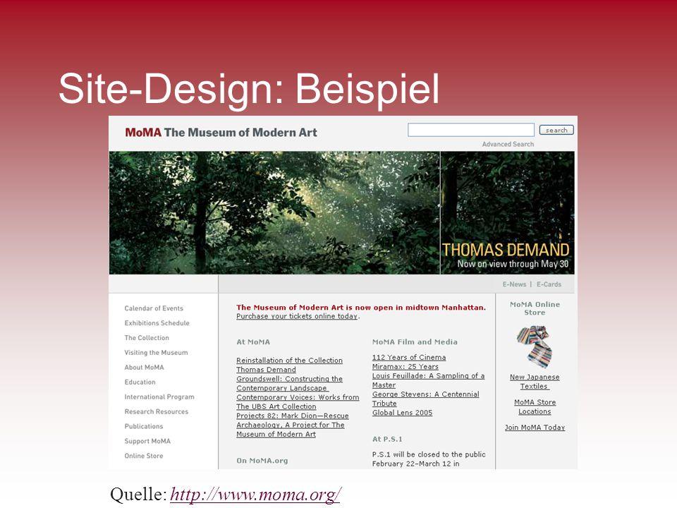 Site-Design: Beispiel Quelle: http://www.moma.org/http://www.moma.org/