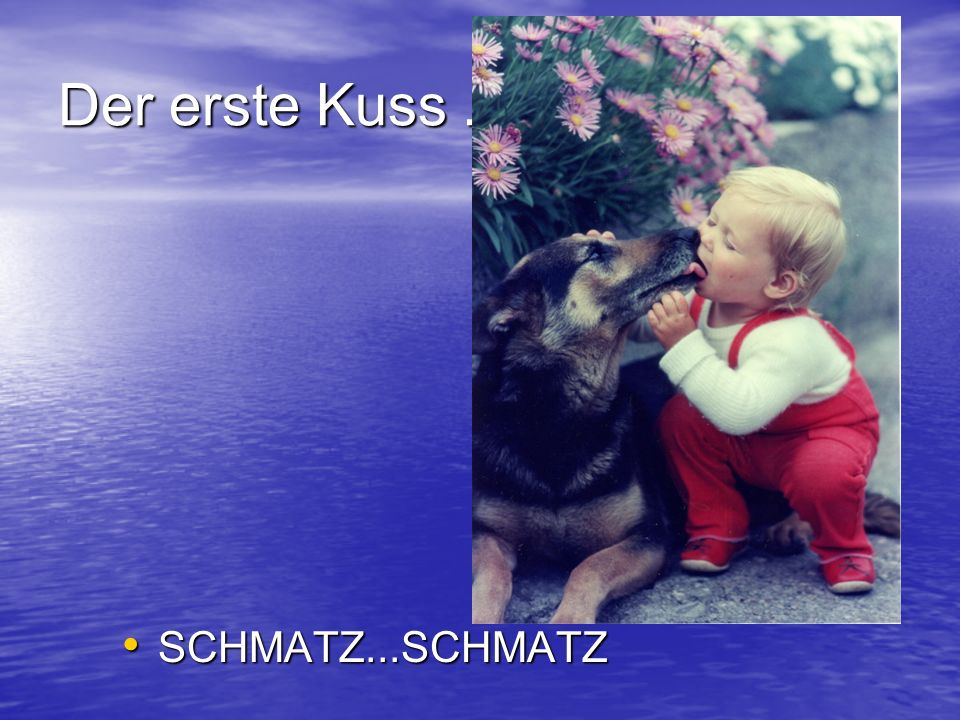 Der erste Kuss... SCHMATZ...SCHMATZ SCHMATZ...SCHMATZ