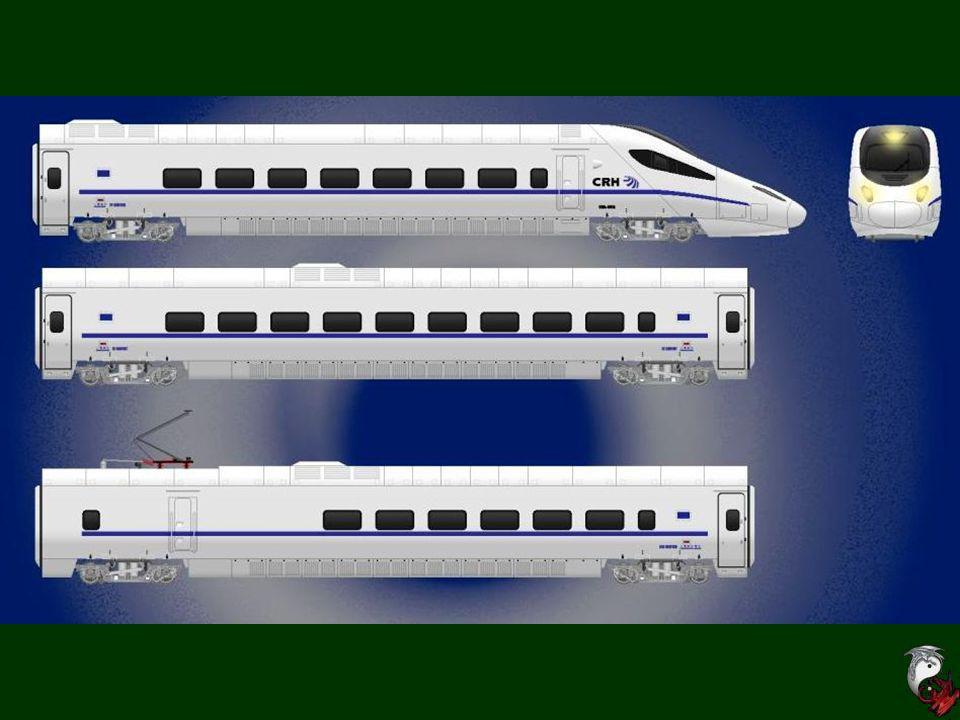 Ein Schnellzug beim Bahnsteig. Das Netz diesen Expresszúgen verbindet Sűden mit Norden und Osten mit Westen der China.