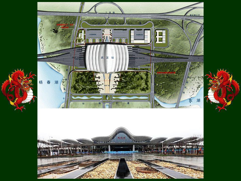 Das Bahnhof in Wuhan (eine Makette)