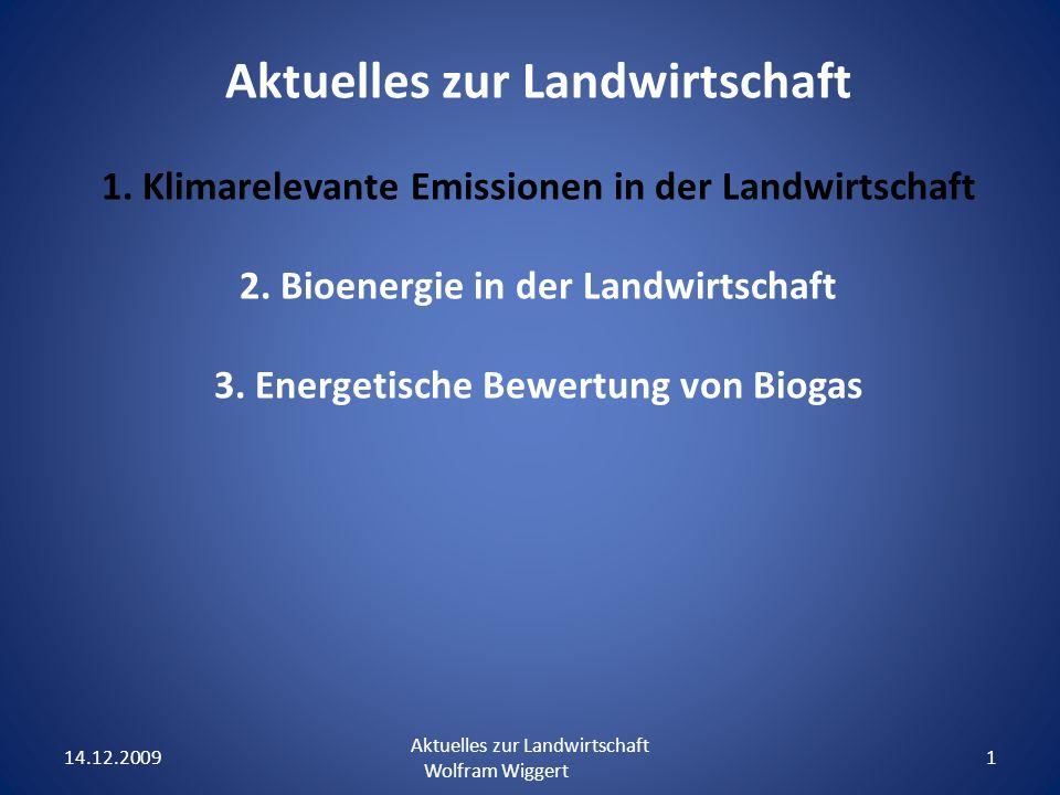 Aktuelles zur Landwirtschaft 1.Klimarelevante Emissionen in der Landwirtschaft 2.
