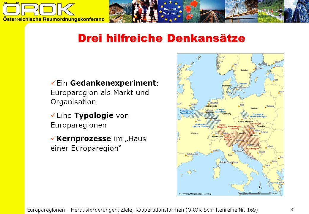 Europaregionen – Herausforderungen, Ziele, Kooperationsformen (ÖROK-Schriftenreihe Nr. 169) 3 Drei hilfreiche Denkansätze Ein Gedankenexperiment: Euro