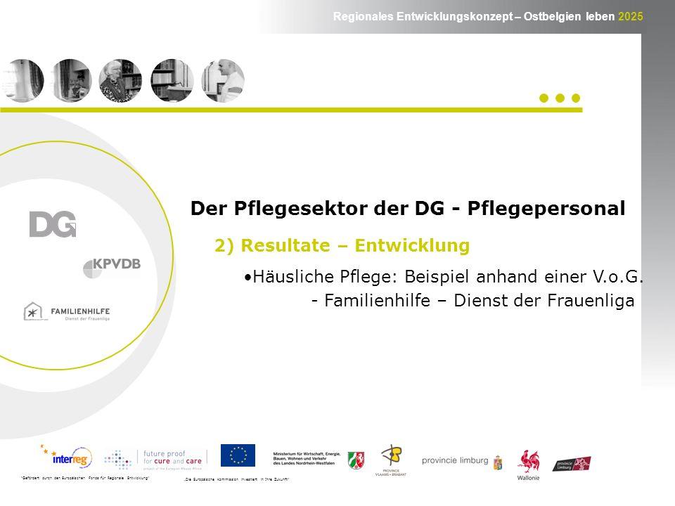 Regionales Entwicklungskonzept – Ostbelgien leben 2025 Häusliche Pflege: Beispiel anhand einer V.o.G.