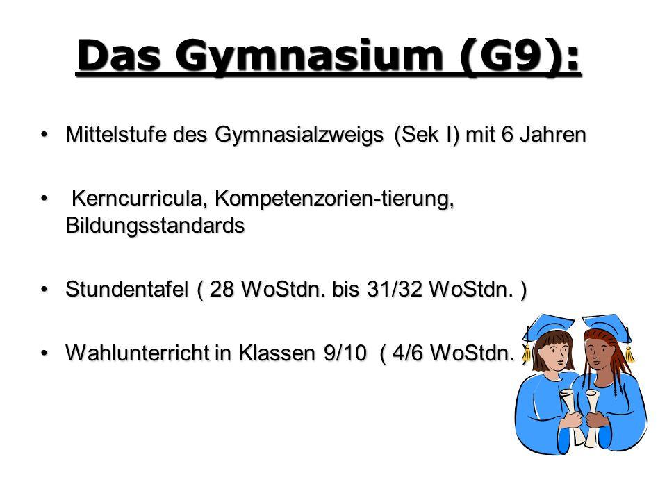 Mittelstufe des Gymnasialzweigs (Sek I) mit 6 JahrenMittelstufe des Gymnasialzweigs (Sek I) mit 6 Jahren Kerncurricula, Kompetenzorien-tierung, Bildun