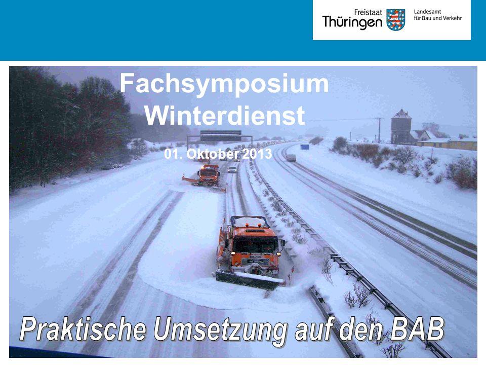 01. Oktober 2013 Fachsymposium Winterdienst