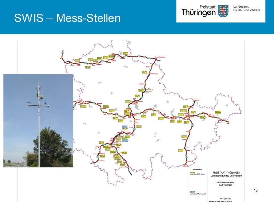 TLBV Abt 4Fachsysmposium Winterdienst 01.10.201316 SWIS – Mess-Stellen
