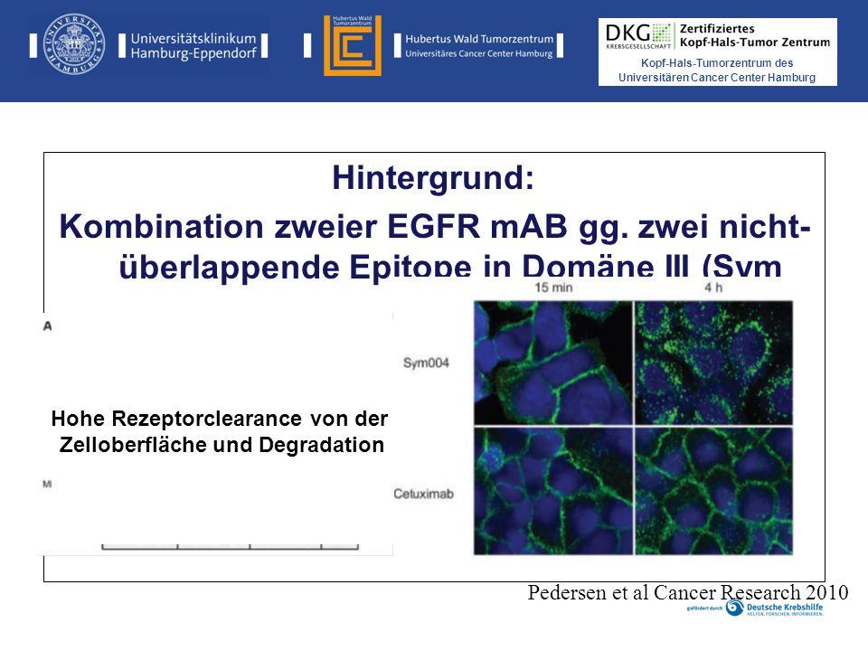 Kopf-Hals-Tumorzentrum des Universitären Cancer Center Hamburg Hintergrund: Kombination zweier EGFR mAB gg.