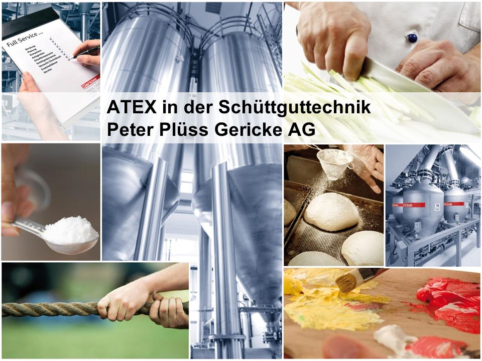 ATEX in der Schüttguttechnik Peter Plüss Gericke AG