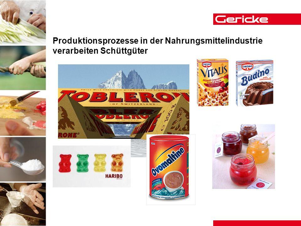 Produktionsprozesse in der Nahrungsmittelindustrie verarbeiten Schüttgüter