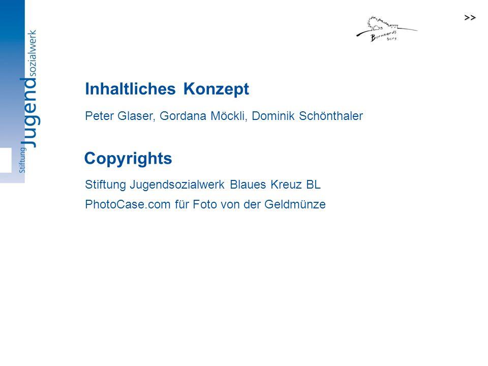 Inhaltliches Konzept Peter Glaser, Gordana Möckli, Dominik Schönthaler Stiftung Jugendsozialwerk Blaues Kreuz BL PhotoCase.com für Foto von der Geldmünze Copyrights >>