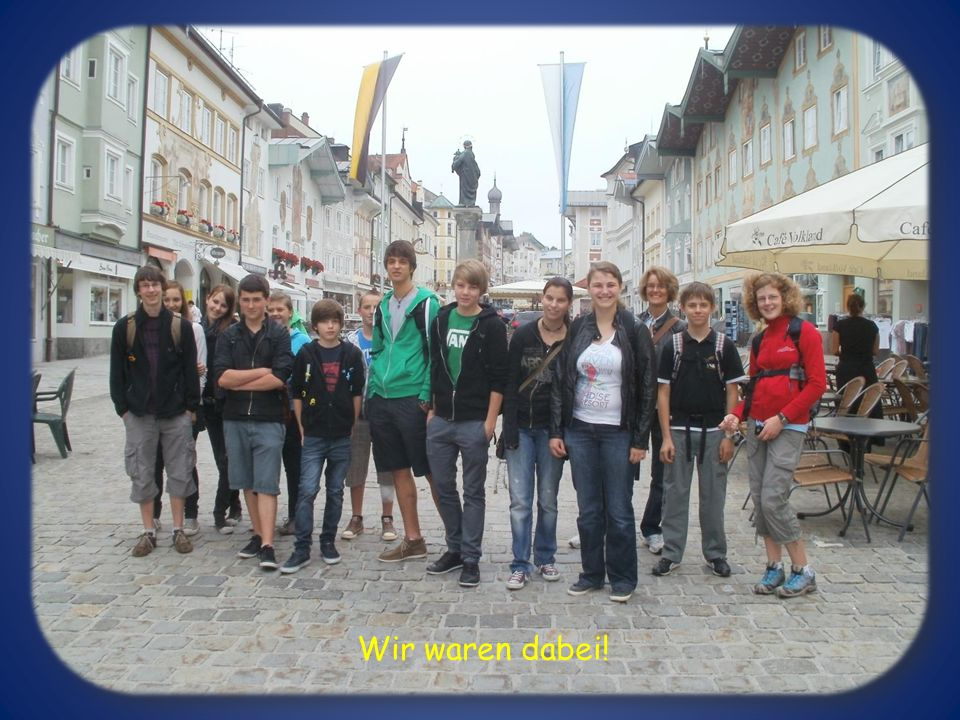 Erste Erkundung von Bad Tölz Am Ufer der Isar und in der Stadt