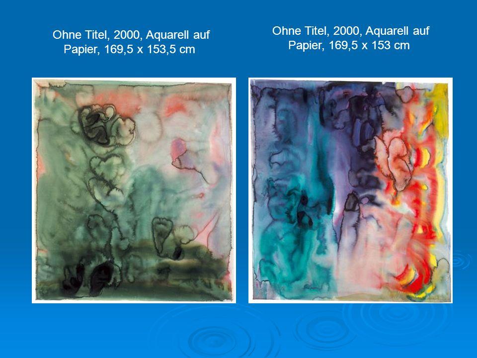 Ohne Titel, 2000, Aquarell auf Papier, 168,5 x 151 cm Ohne Titel, 2000, Aquarell auf Papier, 168,5 x 150 cm
