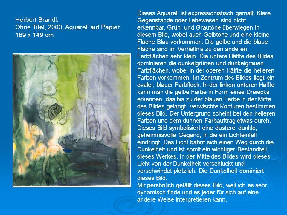 Ohne Titel, 2000, Aquarell auf Papier, 169,5 x 153,5 cm Ohne Titel, 2000, Aquarell auf Papier, 169,5 x 153 cm